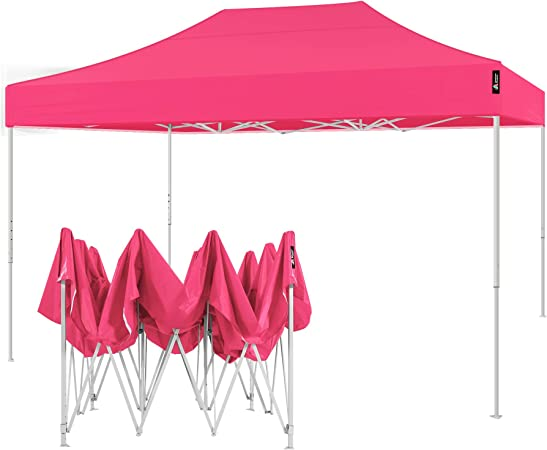 Amazon Com American Phoenix 10x15 Pop Up Tent Instant Canopy Commercial Outdoor Party Canopy Shelter 10x15ft White Frame Pink Garden Outdoor