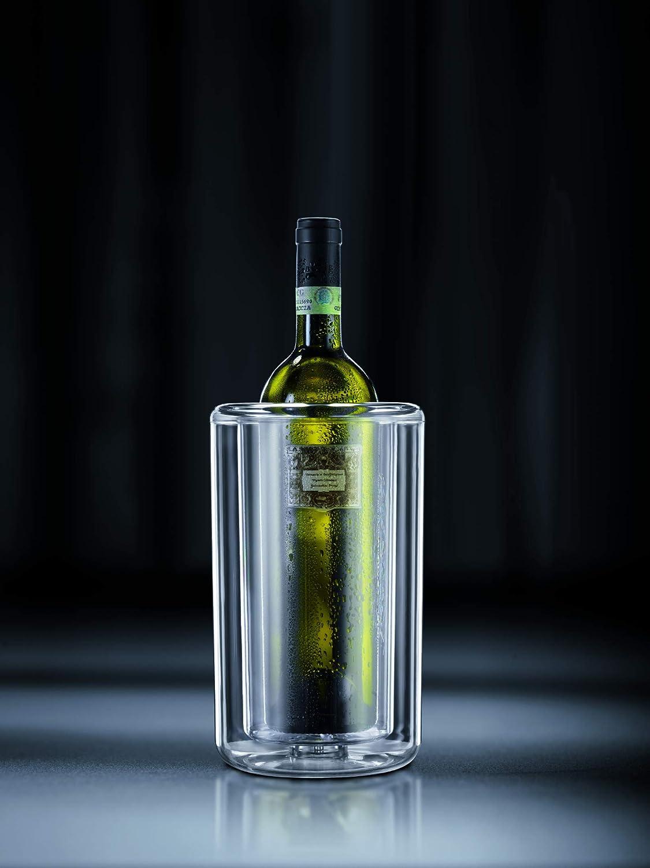 14 x 14 x 23.5 cm Bodum Kira Flaschenk/ühler doppeltw/ändig Kunststoff Transparent