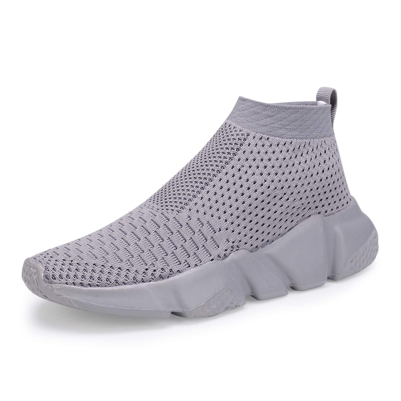Little Kid//Big Kid CHUI Boys Girls Breathable Sneakers Mesh Lightweight Easy Walk Casual Slip-On Flyknit Athletic Running Walking Shoes