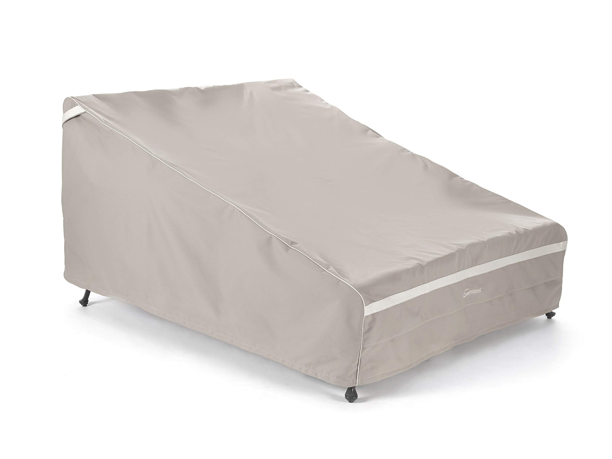 Covermates – Double Chaise Lounge Covers – 66W x 89D x 38H – Prestige Collection – 7 YR Warranty – Year Around Protection - Clay