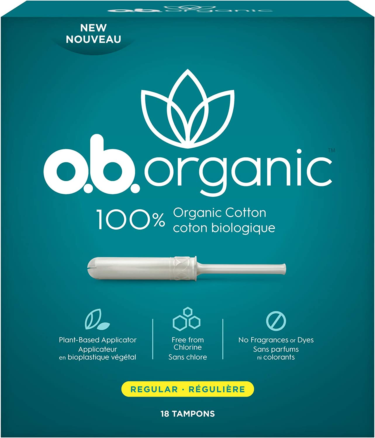 o.b. Organic Tampons with New Plant-Based Applicator