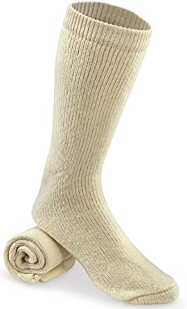 Amazon.com  (1 Pair) Military Issue Arctic Cold Weather Wool Socks ... 5ad787e7099