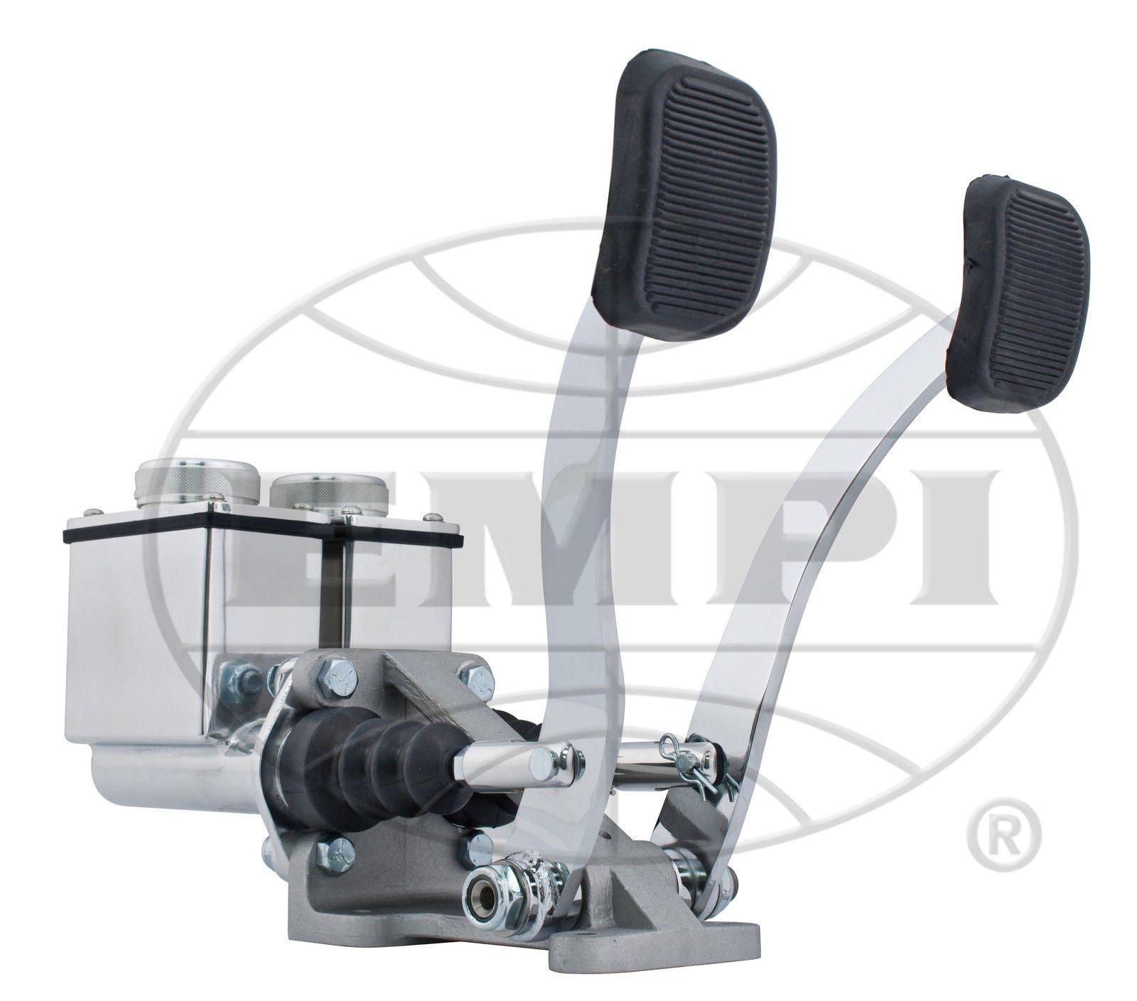 EMPI 16-2530-0 RACE TRIM Dual Pedal Assembly, 3/4'' Clutch - 7/8'' Brake, Polished