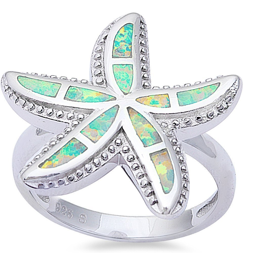 Turquoise Heart shape .925 Sterling Silver Ring Sizes 6-9