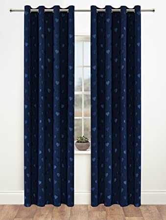 Blackout Curtains blackout curtains navy blue : Amazon.com: Onlyyou Window Treatments Thermal Insulated Heart ...