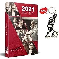 2021 Atatürk Ajanda - Kırmızı + Kocatepe Anahtarlık