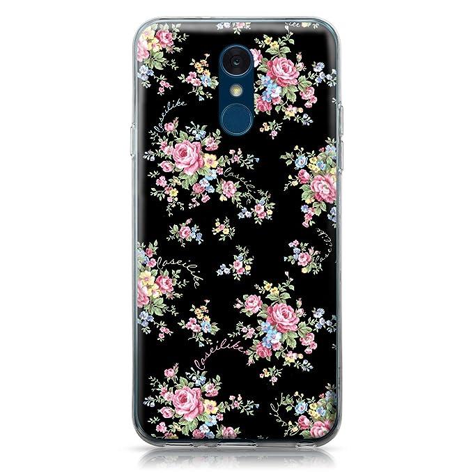 CASEiLIKE® Funda LG Q7, Carcasa LG Q7, Floral Rosa clásico 2261, TPU Gel Silicone Protectora Cover