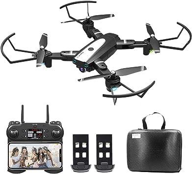 0BEST Dron con Cámara 4K HD, Avión WiFi FPV, Modo sin Cabeza, Foto Gestual, Regreso con un Solo Botón, 360 Flip, 30 Minutos de Tiempo de Vuelo (2 ...