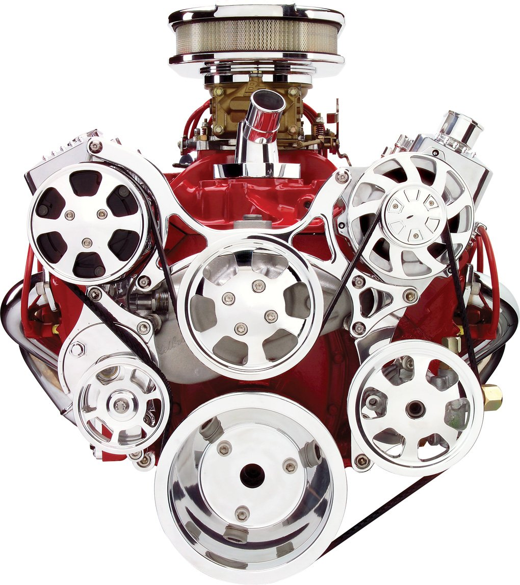 Billet Specialties 13220 Tru Trac Pulley System for Small Block Chevy