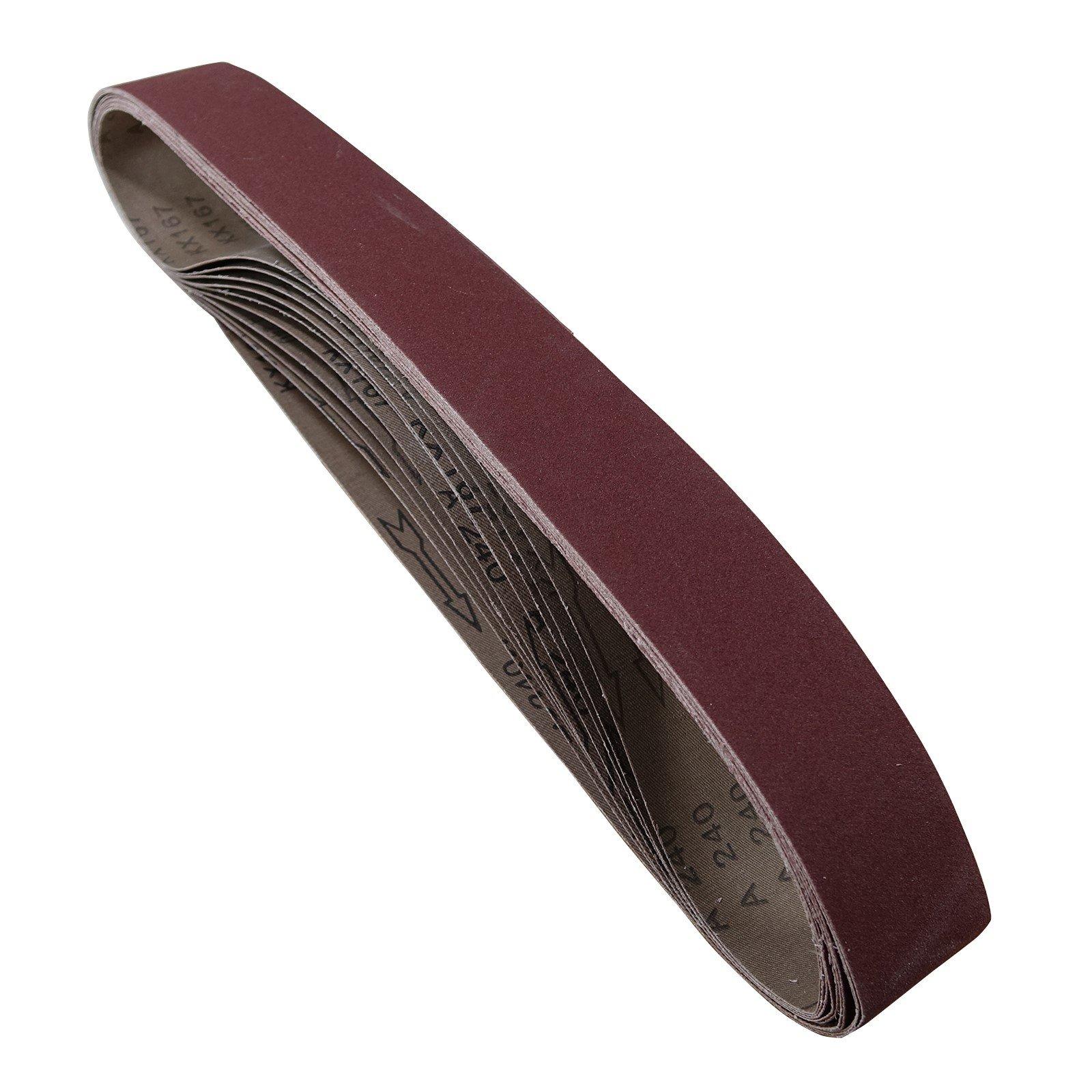 POWERTEC 424240A 2-Inch x 42-Inch 400 Grit Aluminum Oxide Sanding Belt, 10-Pack
