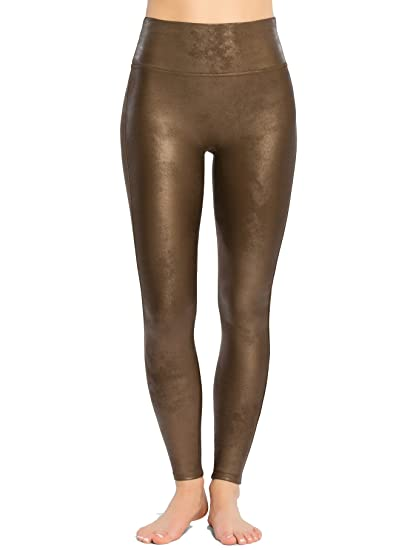 a0ff3669d Spanx  Ready to Wow  Faux Leather Leggings Bronze Metal Extra Small. UK 4