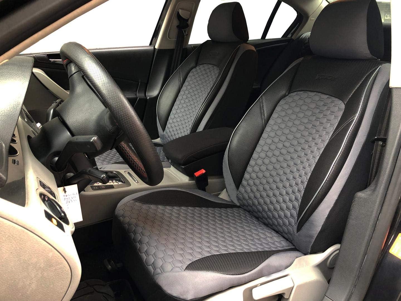 Seatcovers By K Maniac K Maniac Für Vw Passat B7 Universal Schwarz Grau Autositzbezüge Set Vordersitze Autozubehör Innenraum Auto Zubehör V1708402 Kfz Tuning Sitzbezug Sitzschoner Auto