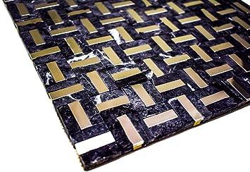 1 hoja Azulejos de mosaico 30 x 30 cm baldosas de piedra gris cromo espejo mezcla cocina ba/ño pared 8 mm cuadrado
