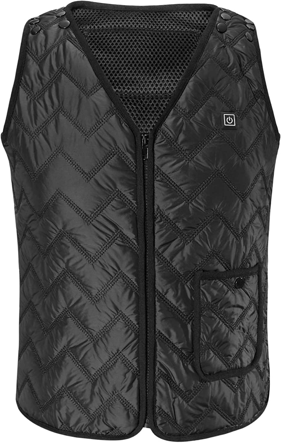 Size Adjustable Rrtizan Heated Vest for Mens and Womens Outdoor Winter Warm Vest Coats for Hunting USB Electric Heating Vests Camping 3 Temperature Levels Electrically Heated Jacket Washable