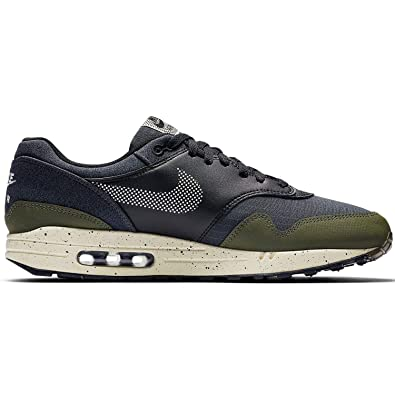 huge discount 57608 0101e Image Unavailable. Image not available for. Color  Nike Mens Air Max 1 SE  Running Shoes Medium Olive Light Cream Black AO1021