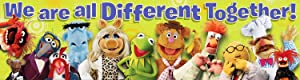 """Eureka Muppets 'Different Together' Classroom Banner Poster, 12"""""""" W x 45"""""""" L"""