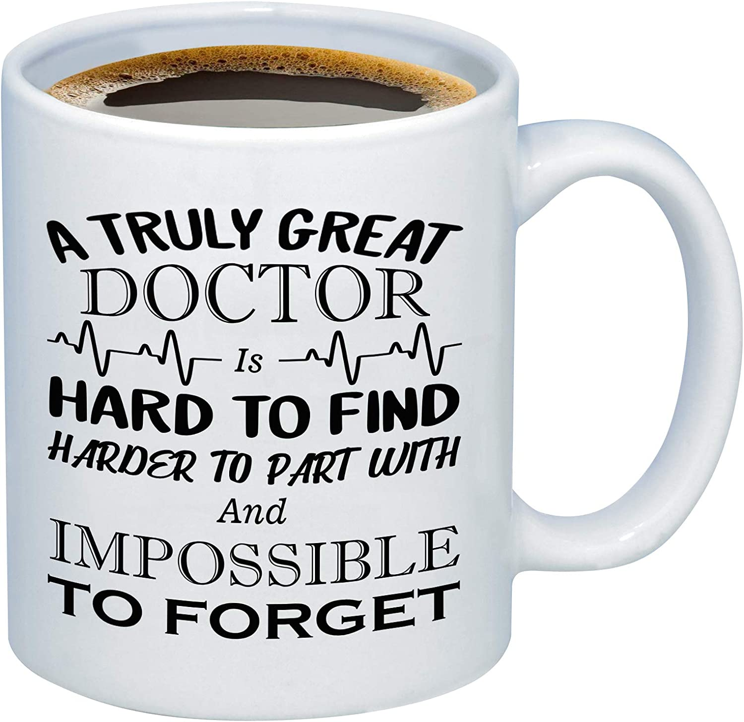 Doctor Retirement – A Truly Great Doctor is Hard To Find – 11 Ounce Coffee Mug Cup – Unique and Memorable Physician Retirement Gifts by Funny Bone Products