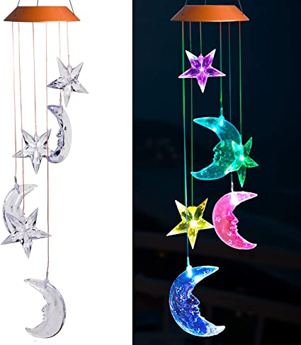 Novelty Moon Wind Chimes Outdoor Decor for Home