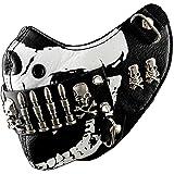 Bullet Mask Mens Punk Rock Biker Custome Hip Hop Motorcycle Black and White