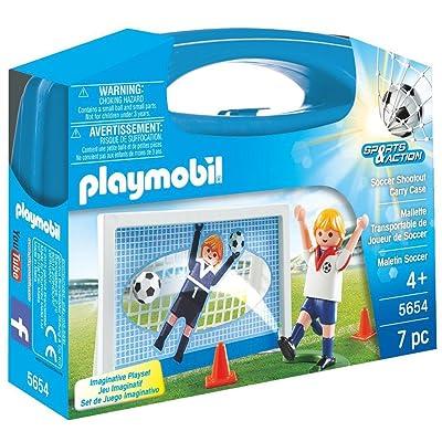 PLAYMOBIL Soccer Shootout Carry Case: Toys & Games