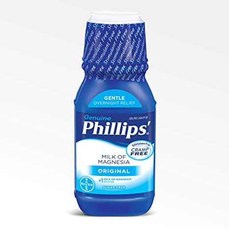 Amazon.com: Phillips Milk of Magnesia Laxative (Original, 12-Fluid-Ounce Bottle): Prime Pantry