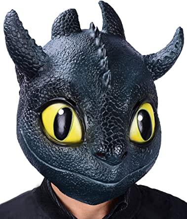 How To Train Your Dragon Night Fury Cosplay Mask The Hidden World Toothless Mask