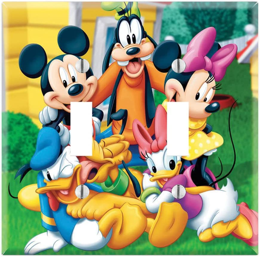 Dual Toggle Wall Switch Cover Plate Decor Wallplate - Mickey Mouse Clubhouse