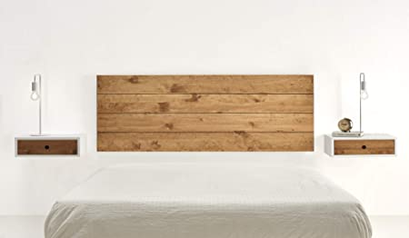 Hogar24-Cabecero Madera Maciza Natural Acabado Encerado. Medidas:155 x 60 x 2 cm.