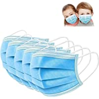 SWIVS LOCKER Kids Face Mask, 50 Pack Disposable Face Masks for Boys and Girls, 3-ply With Elastic ear loops, Highly…
