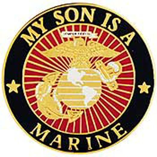 Image Unavailable. Image not available for. Color  USMC My Son Is A Marine  Pin Military Collectibles for Men Women 532812cbe9