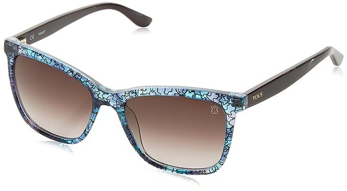Tous Mujer STOA02 Gafas de sol, Multicolor (Transp.Pink/Light Blue Havana)