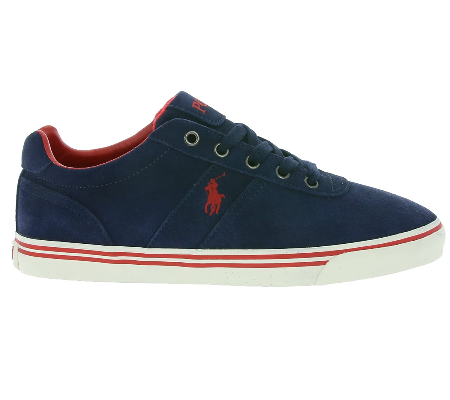 Polo Ralph Lauren Hanford Men s Real Leather Sneaker Blue A85 XZ4YQ XY4YQ  XW4R7  Amazon.co.uk  Shoes   Bags 8aeda24e043