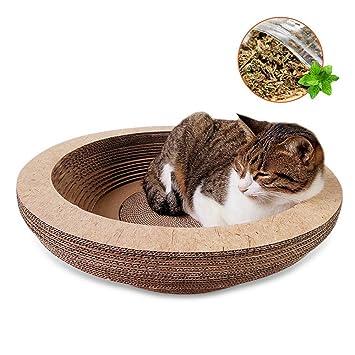 Enjoyfeel Rascador de Gatos, Carton Corrugada Juguetes/Cama/Lounge/Nido de Gatos y Catnip (Forma3): Amazon.es: Productos para mascotas