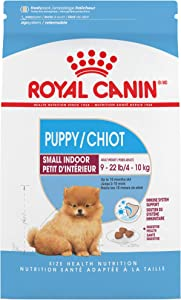 Royal Canin Indoor Small Puppy Dry Dog Food, 2.5 pounds.