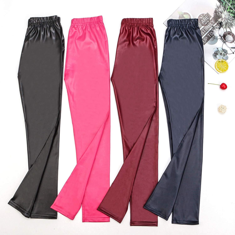 Auranso Toddler Girls Leggings Basic Full Length Cotton Tights Pants 2-10 Years