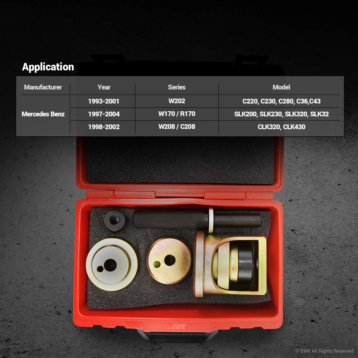 EWK Lower Control Arm Bushing Tool for Mercedes Benz W202 R170 by EWK (Image #4)