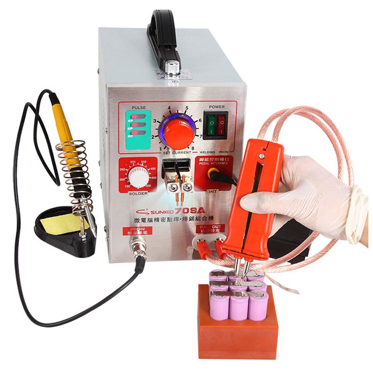 KNOKOO Soldador del punto de la batería del pulso de 1.9kw LED 709A ...