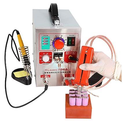 knokoo 2 en 1 110 V 1.9 kW LED Pulso batería Spot soldar 709 A Soldador