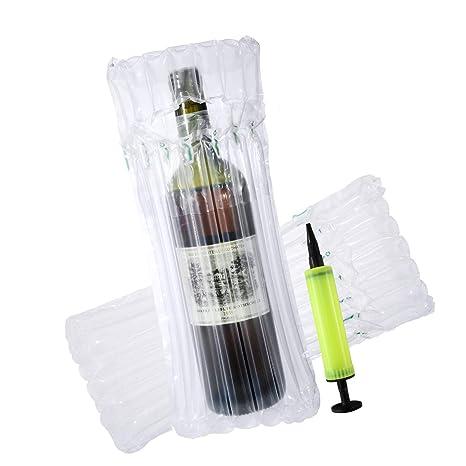 LEEQ - 10 Bolsas Protectoras para Botellas de Vino ...