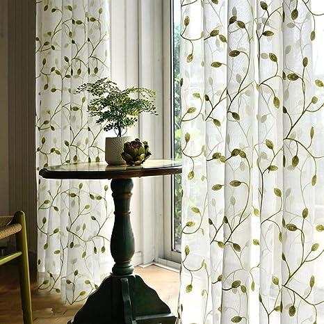 Sheer tende ricamate di fiori tende camera da letto per soggiorno ...