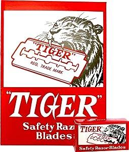 100 Tiger Carbon Double Edge Razor Blades