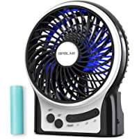 OPOLAR Mini Portable Battery Operated Travel Fan with 3-13 Battery Life, Rechargeable & USB powered Handheld Fan for…
