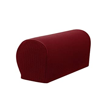 Outstanding Symax Spandex Armrest Cover Stretch Fabric Anti Slip Recliner Arm Covers Furniture Protector Set Of 2 Wine Alphanode Cool Chair Designs And Ideas Alphanodeonline