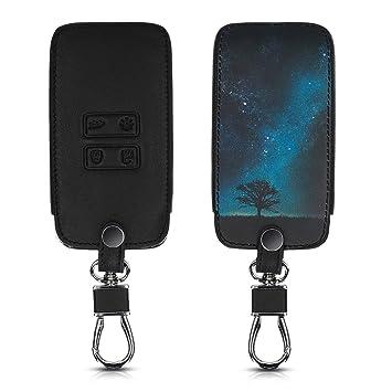 kwmobile Funda para Llave Smart Key de 4 Botones para Coche Renault (Solamente Keyless Go) - Cubierta de Cuero sintético - Case para Mando y Control ...
