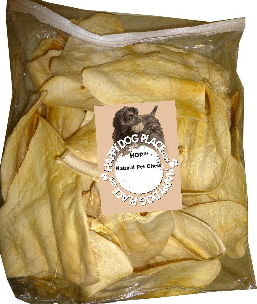 HDP Beef Cow Ears JUMBO Flavor:Natural Size:Pack of 100 by HDP