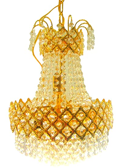 Prop It Up Stainless Steel Crystal Designer Chandelier (300mm, White) Chandeliers at amazon