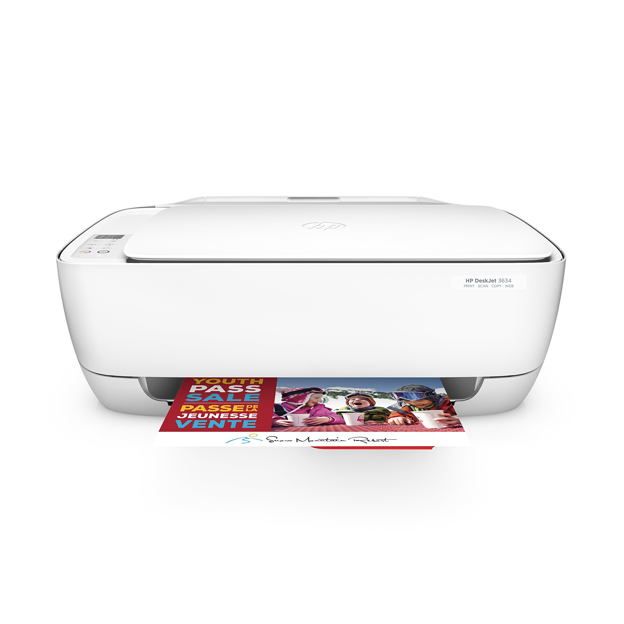 HP DeskJet 3634 Compact All-in-One Wireless Printer with Mobile Printing, HP Instant Ink & Amazon Dash Replenishment ready (K4T93A) by HP (Image #1)