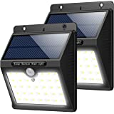 Trswyop Solar Lights Outdoor 33 LED, Upgraded Solar Powered Security Lights Wireless Motion Sensor Waterproof IP65 Wall Lights with 3 Intelligent Modes for Garden, Pathway, Driveway, Patio (2 Pack)