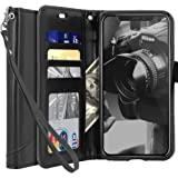 Tocol For iPhone X Case,[Stand Feature] Premium PU Flip Leather Wallet Protective Case Cover Magnetic Closure With Card Slots for Apple iPhone X - Black