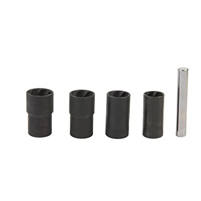 "Twist Socket Set (5 Piece) Includes 1/2"" Inch, Lug Nut Remover, 17mm, 19mm, 21mm, 22mm Sockets: Home Improvement"